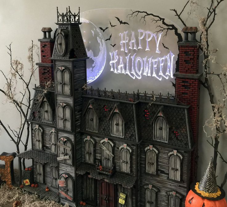 This Halloween Advent Calendar house is hand crafted. It's