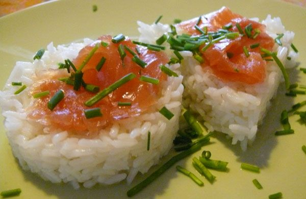 Timballo riso profumato salmone