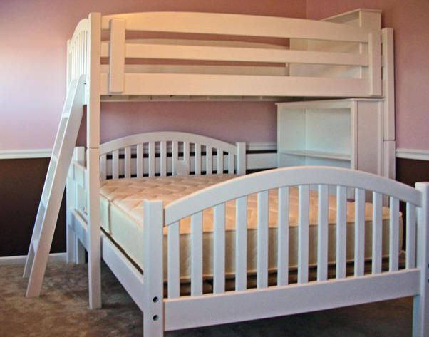 Twin Over Full L Shape Bunk Bed With Bookcase Arched Mission Style Dream Home Pinterest Beds And Shaped