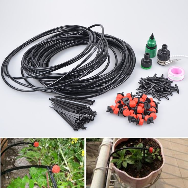 19.88$  Know more - 25m Diy Drip Irrigation System Plant Automatic Self Watering Garden Hose Arrosage Automatique Micro Drip Garden Watering System   #shopstyle