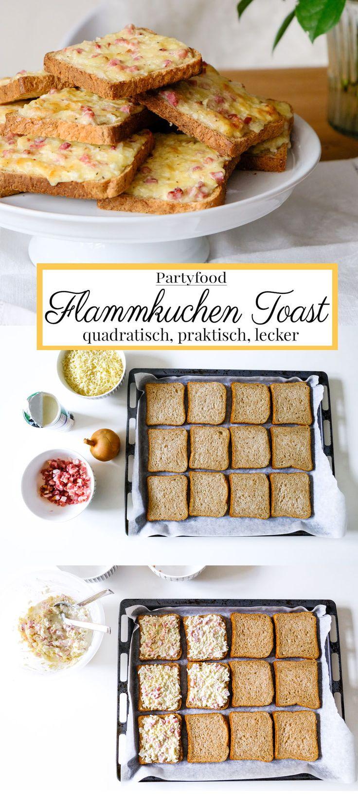 Quadratisch, praktisch, lecker: Flammkuchen Toast (Rezept)   – Essen