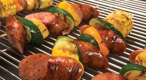 Kiolbassa Sausage - Recipe - Sausage Kabob