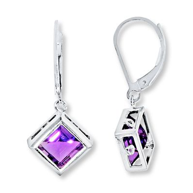 Dangle Earrings Amethyst  Sterling Silver that I want for Christmas.