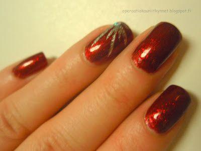 China Glaze Ruby Pumps, Kiss Nail Art Paint SPA10 Silver Glitter, OPI I Snow You Love Me