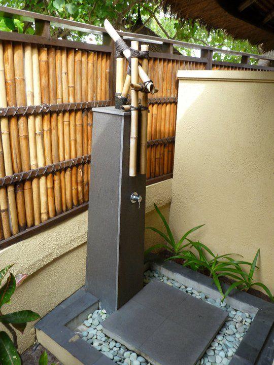 Open-air shower. #Maldives #Travel #Inspiration #OiaDesign ...