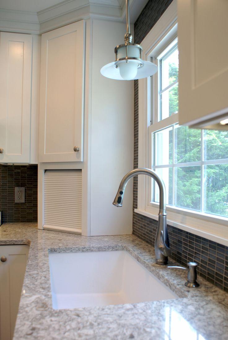 40 best kitchens images on pinterest quartz countertops white white diamond kitchen with new quay quartz countertops 13 of 15 dailygadgetfo Image collections