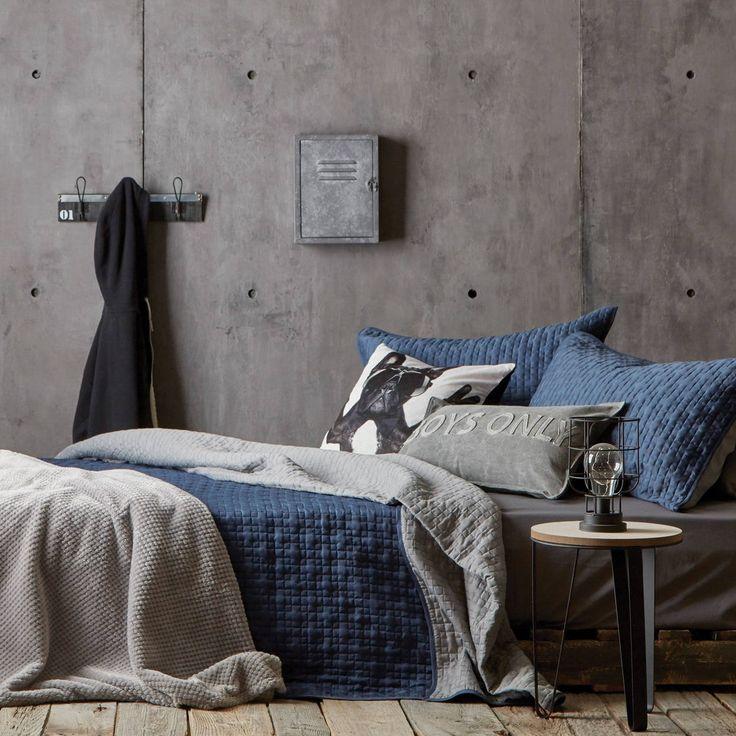 Acheter Bleu Couleur Confortable Tissu Pour Couvre Lits Belle