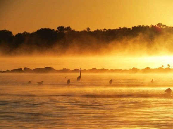 WINTER SUNRISE, URUNGA, MID NORTH COAST IN NEW SOUTH WALES