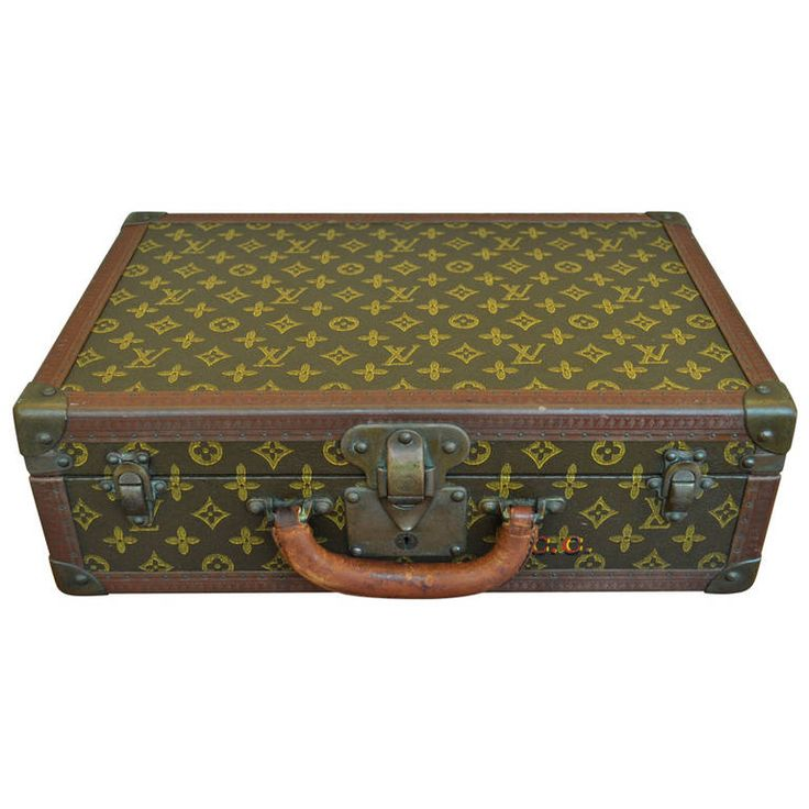 Louis Vuitton Luggage Hard Case Suitcase or Briefcase | From a unique collection of antique and modern trunks and luggage at https://www.1stdibs.com/furniture/more-furniture-collectibles/trunks-luggage/