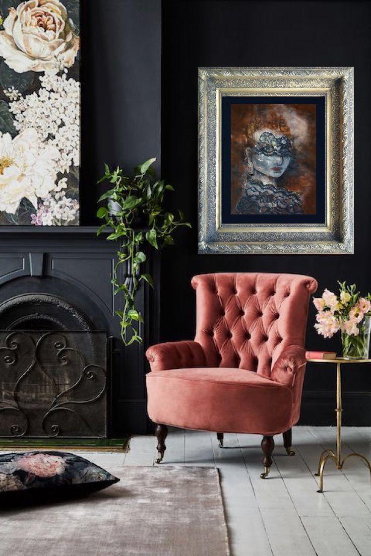 Modern Home Decor, Wall Hanging, Woman Painting, House Warming Gift, Wall Art, Mixed Media Painting, Original Art, Red Hair, Encaustic Art