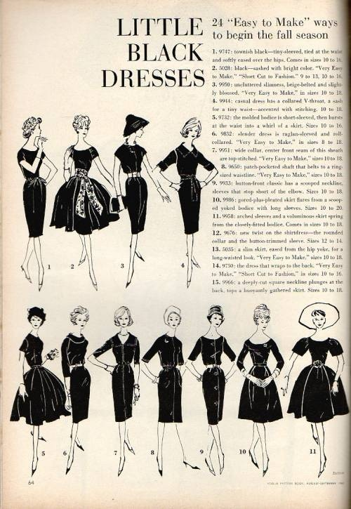 Vouge Pattern magazine Aug- Sept 1960