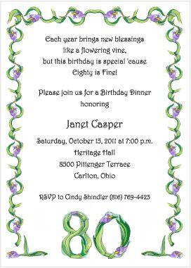 12 best moms birthday party images on pinterest 90 birthday 90th birthday invitation wording samples birthday invitations stopboris Gallery