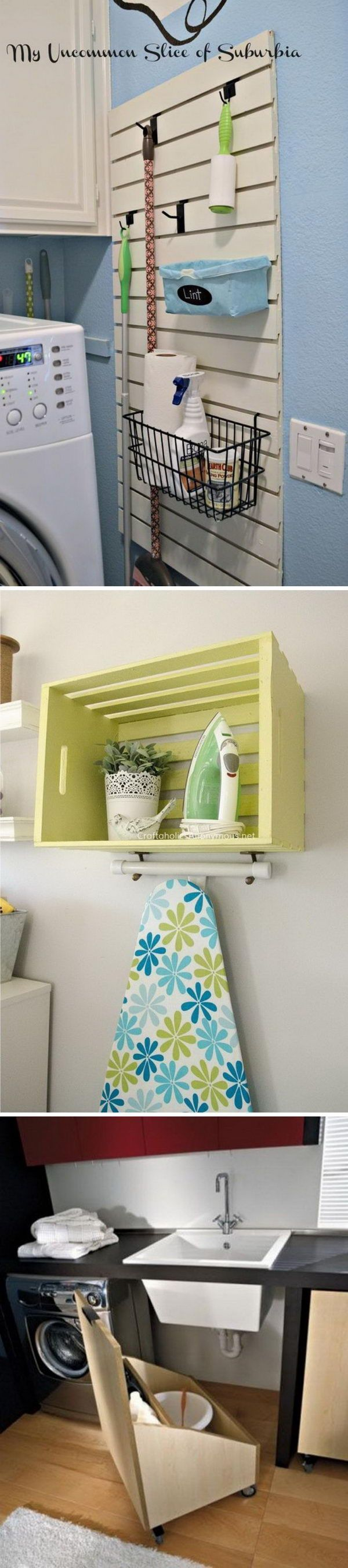 Clever Laundry Room Organization and Storage Ideas.