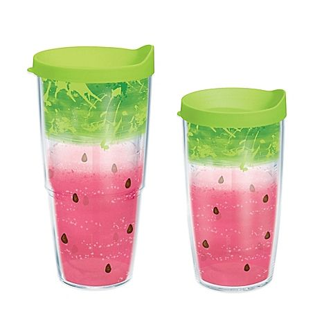 Add a splash of watermelon to your favorite beverage with the Tervis Watermelon Splash Wrap Drinkware. This colorful drinkware is perfect for hot summer days, barbecues, parties, the gym and more. Suitable for hot or cold drinks, lid included.