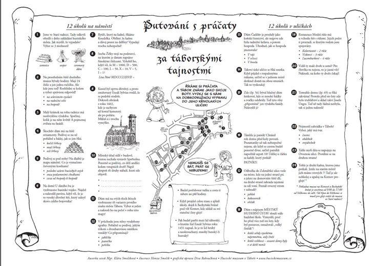 Mapa pro poznávání města_text Klára Smolíková, ilustrace Honza Smolík