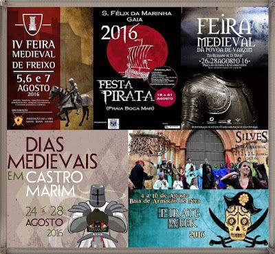 Feiras Medievais de Agosto (datas e locais) - http://mymemoriesmyworld2014.blogspot.pt/2016/08/feiras-medievais-de-agosto-datas-e.html