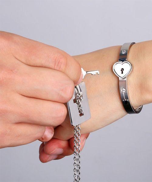 1ec975198ad4a9 ペア ブレスレット ネックレス,鎖 鍵 ハート,プレゼント | ないしょ ...