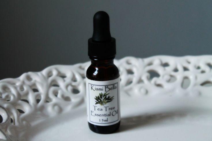 Tea Tree Pure Essential Oil Amber Glass Bottle