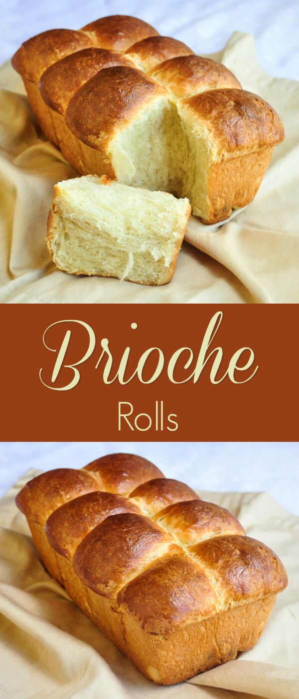 Brioche Rolls - the classic French sweet bread prepared as rolls that are perfect to serve with many meals or on their own with butter and your favourite jam for brunch.