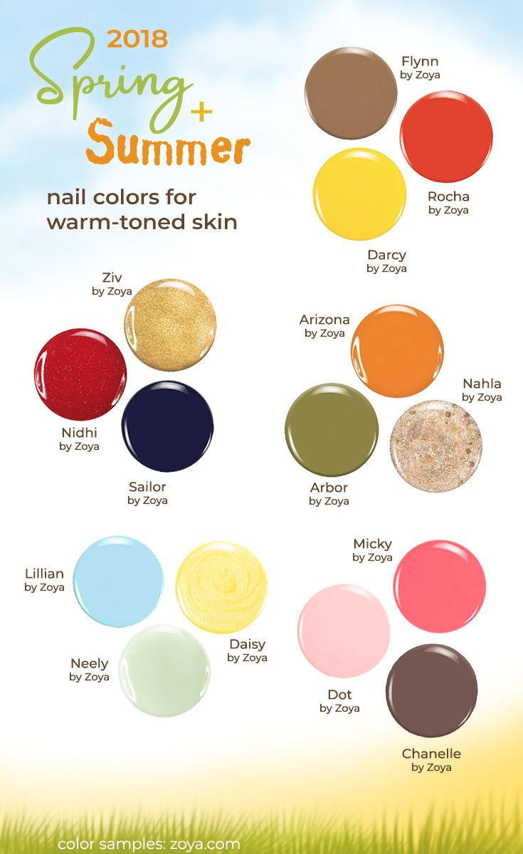 These Summer Nail Polish Colors Look Great With Warm Toned Or