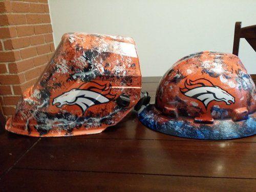 custom welding helmet Denver Broncos