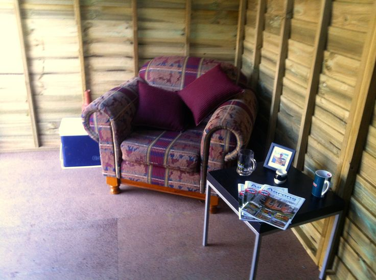 another shot of our man cave in campbellfield victoria a big squashy armchair