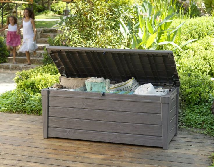 Brightwood Storage Box   Taupe Shade: Brightwood Storage Deck Box. Combines  Seating, Table