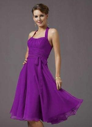 Love this vibrant purple...but not sure how well it would work in a longer dress. Might be a bit much. Still like the color none-the-less.
