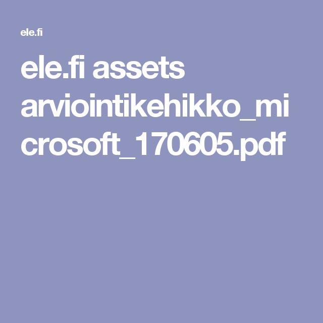 ele.fi assets arviointikehikko_microsoft_170605.pdf