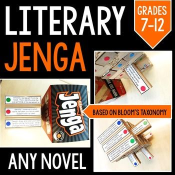 195 best ms lit images on pinterest bookshelf ideas library ideas literary jenga reading literature game for any novel grades 7 12 fandeluxe Gallery