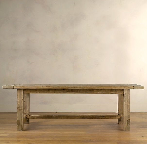Farmhouse table Restoration Hardware. We're building this.