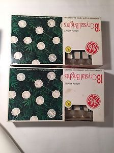 Vintage 2 Boxes General Electric Merry Midget Crystal Brights Christmas Lights  | eBay