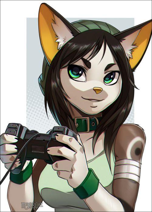Furrywolfcyrus Gamer Girl By Melloque  Furry Stuff -2248