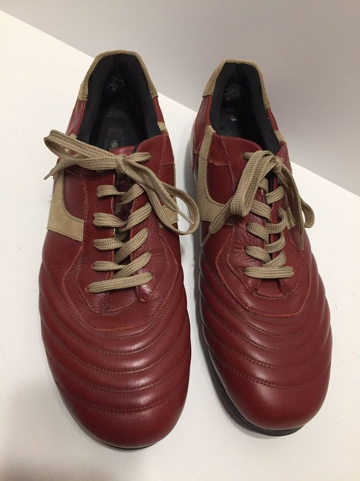 Men's Skechers Red Brown Leather & Tan Suede Shoes Size 13 US Lace Up