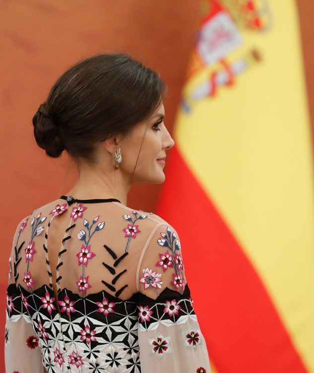 23 October 2019 - State visit to South Corea (day Seoul, dinner hosted by South Corea's President and his wife at Blue House - dress by Temperley London Princess Stephanie, Princess Estelle, Princess Charlene, Princess Madeleine, Crown Princess Victoria, Manolo Blahnik, Kate Middleton, Princess Of Spain, Pregnant Princess