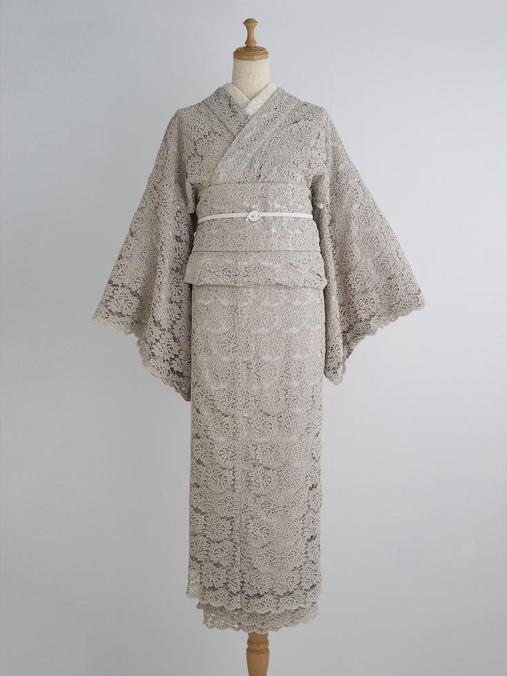 アールグレイ 着物・薄梅鼠 | DOUBLE MAISON Lace kimono
