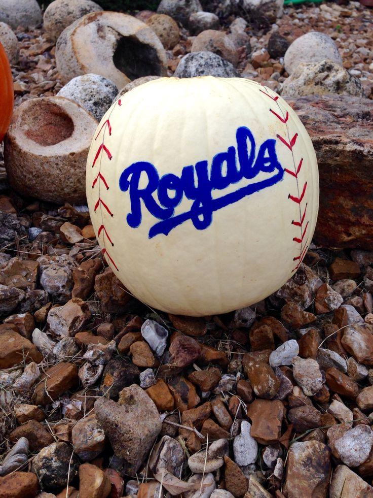 Kansas City Royals Baseball Pumpkin 2014