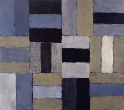 """Wall of Light White,"" by Sean Scully, oil on canvas, 96 by 108 inches, 1998"