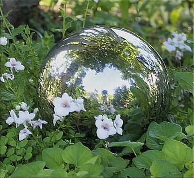Attirant Silver Gazing Ball | Victorian Gazing Orbs | Garden, Garden Spaces, Garden  Statues