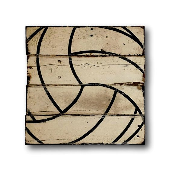 Volleyball Wall Art / Volleyball Gift / Rustic by PalletsandPaint