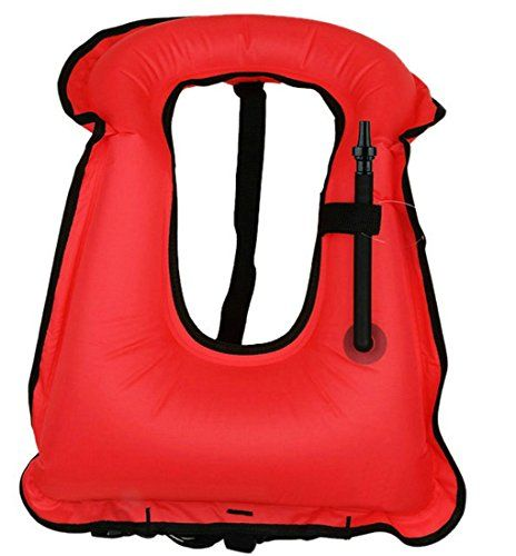 Sannyway Inflatable Diving Snorkel Vest Safety Flotation Devices Buoyancy Compensator for Water Sports Snorkeling Surfing Swimming (Red, Adult) - http://scuba.megainfohouse.com/sannyway-inflatable-diving-snorkel-vest-safety-flotation-devices-buoyancy-compensator-for-water-sports-snorkeling-surfing-swimming-red-adult/