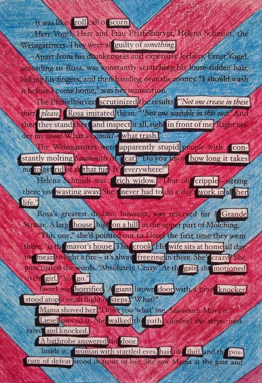 Found Poetry:  The Book Thief  Grade 8
