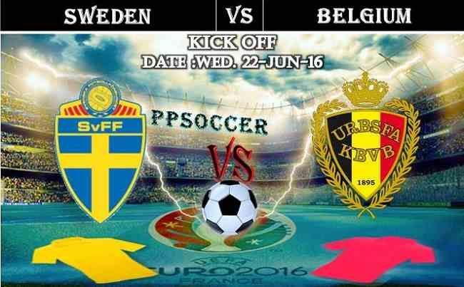 Sweden vs Belgium 22.06.2016 Free Soccer Predictions, head to head, preview, predictions score, predictions under/over EURO Cup 2016 Group Stages