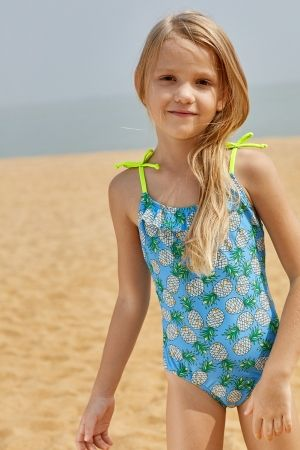 b94c7d91 Pineapple Print Little Girls One-piece Swimsuit | Kid's Clothes ...