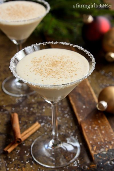 Lot's of eggnog this time of the year, perfect for this Eggnog Cocktail - afarmgirlsdabbles.com #eggnog #cocktail #holiday @farmgirlsdabble