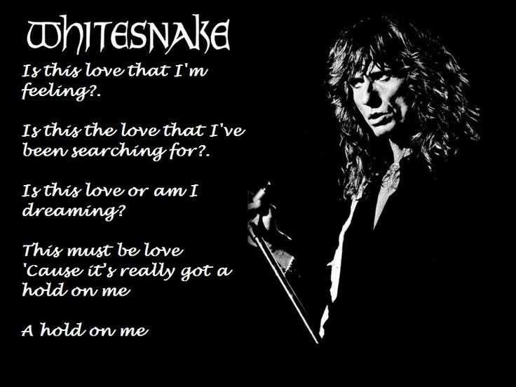 Whitesnake - Is This Love | Lyrics | Pinterest
