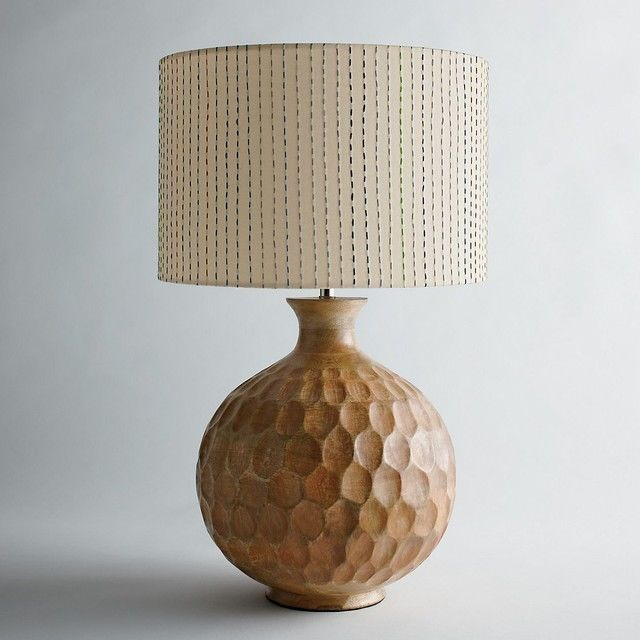 The Company Store Mango  Wood Lamp Base Natural 4019 KCZ #TheCompanyStore