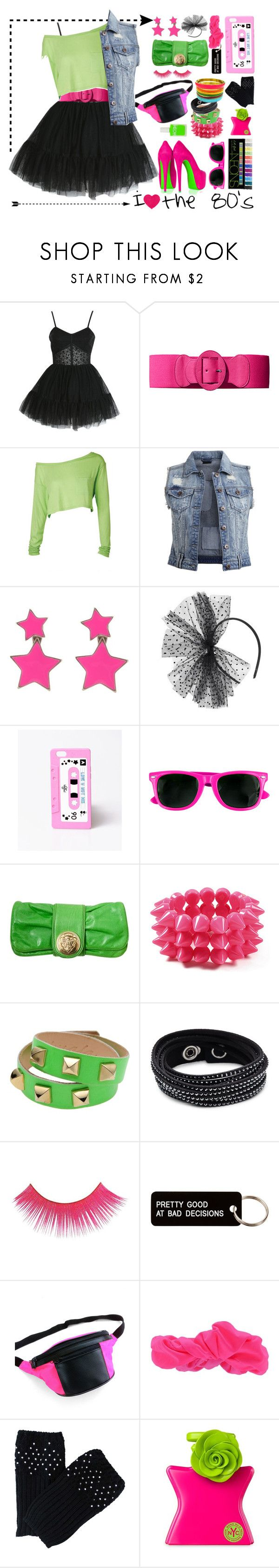 """""""I Heart the 80's"""" by maheanani on Polyvore featuring Miss Selfridge, H&M, Vila Milano, Pilgrim, Dorothy Perkins, Valfré, fred flare, Gucci, Amrita Singh and Almala"""