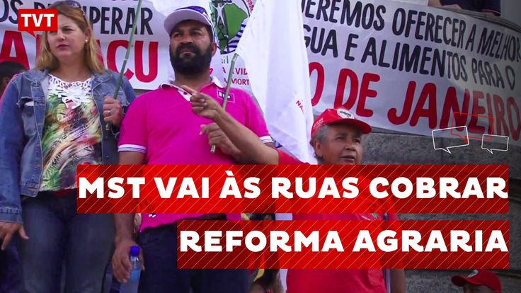 No RJ, MST vai às ruas para cobrar reforma agrária de Temer
