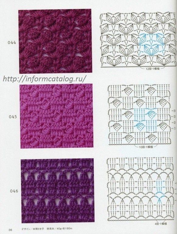 1755 best Crochet5  Crochet Stitches  Techniques  Motifs   Pattern Diagrams images on Pinterest